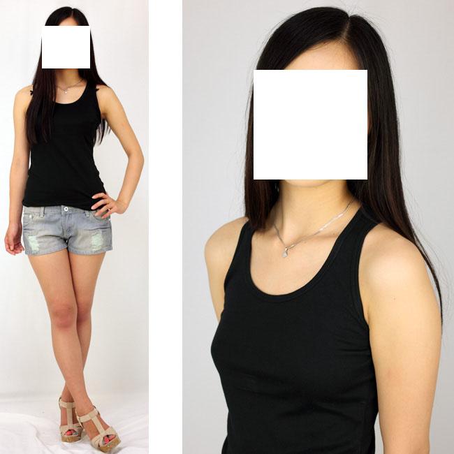 モデル体型の女性